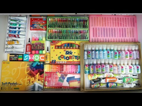 MY STATIONERY COLLECTION Part 2! Indian School Supplies **UNCUT VIDEO** | Heli Ved