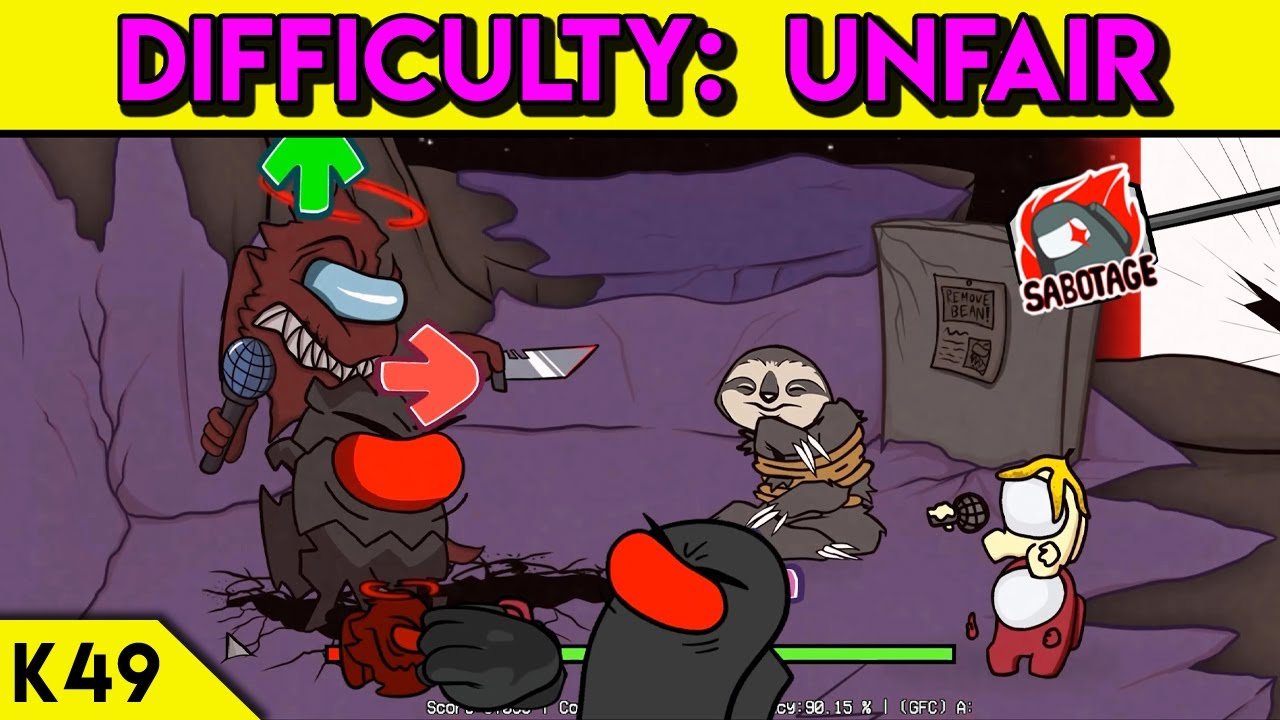 Friday Night Funkin' - Impostor vs 2 Mini Crewmates (Expurgation Difficulty: UNFAIR) FULL