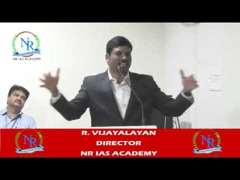 NR IAS ACADEMY R. VIJAYALAYAN MOTIVATED  SPEECH INDIRA COLLE