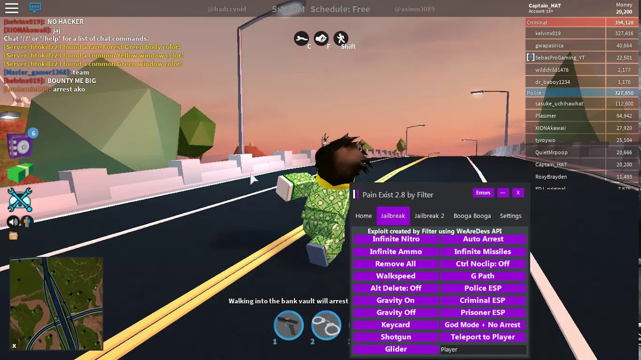 How To Noclip In Roblox Jailbreak Speed Hack Auto Arrest