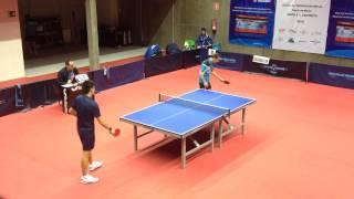 Dorde Borcic - Kou Lei (Spanish Table Tennis Superdivision 2014/15) Set 3 of 3