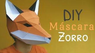 Cómo hacer una Máscara de Zorro con Papel opalina | Momuscraft