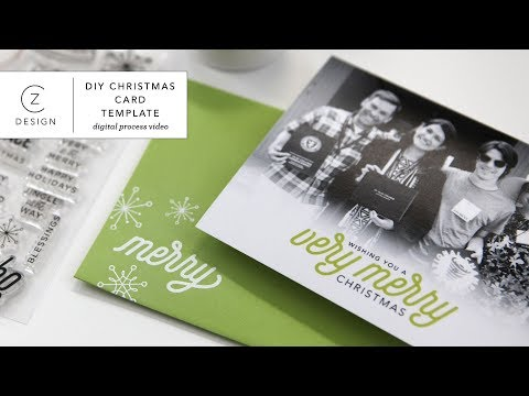 Budget Friendly DIY Holiday Card Using a Layered Template