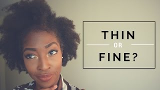 """the difference between """"thin"""" and """"fine"""" hair"""