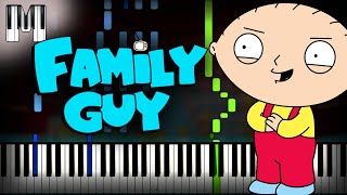 Family Guy - Intro Theme Song Piano Tutorial (Sheet Music + midi) + Synthesia cover