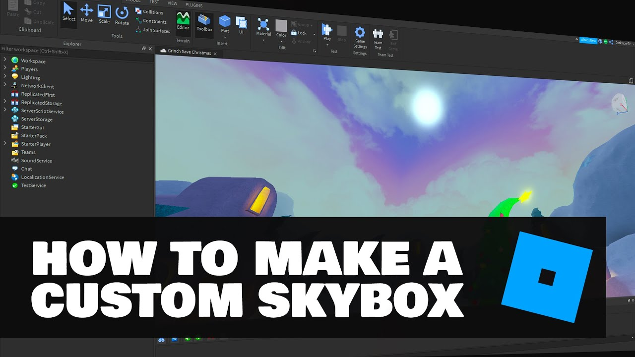 How To Make Your Own Skybox Cubemap In Roblox Studio Youtube