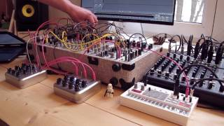 Live Jam #74 -Experimental / Techno - Euroroack modular synth, Korg volca Sample, DIY sequencer