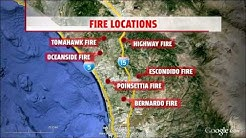 Brush fires: San Diego County declares local emergency