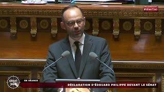 Discours intégral d'Édouard Philippe devant le Sénat