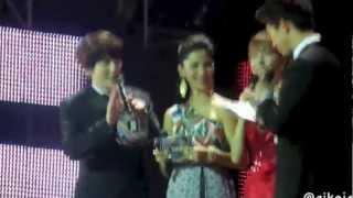 130309 MC Taec & Kyu talking in Bahasa Indonesia | Music Bank Jakarta