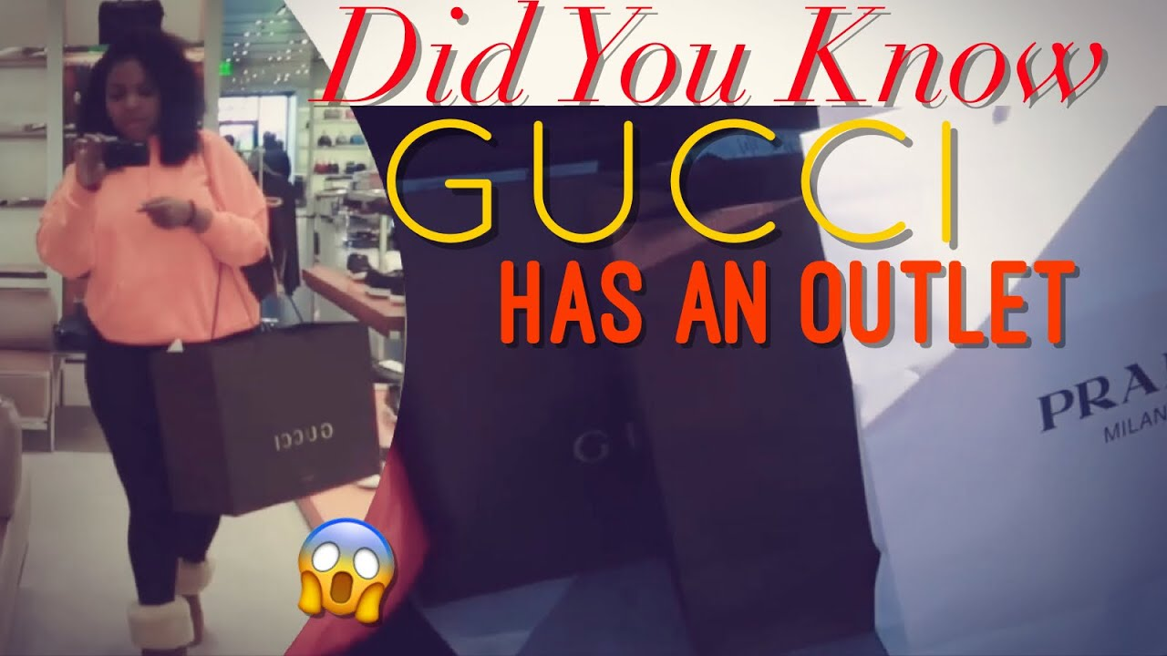ac1a153c9ac6 First Time At The GUCCI and PRADA OUTLET! - YouTube