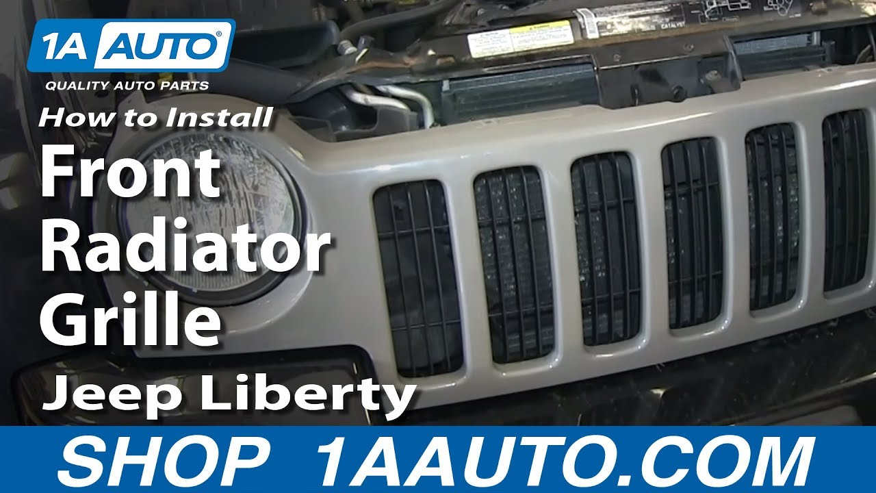 how to replace grille 02 04 jeep liberty youtube