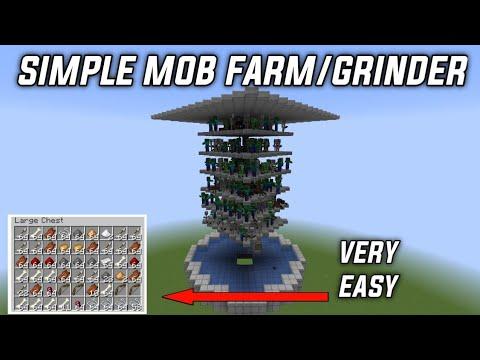 How To Build A EASY MOB FARM In Minecraft 1.14 \u0026 1.15+ (Tutorial)