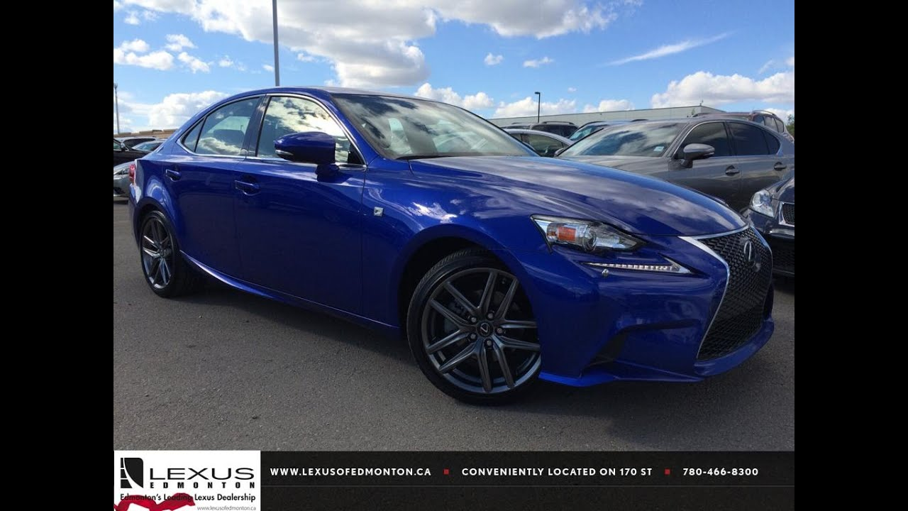 lexus certified pre owned blue 2014 is 250 sport auto awd premium f sport review st albert. Black Bedroom Furniture Sets. Home Design Ideas
