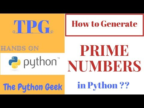Prime number generator in Python || Finding prime numbers using Jupyter notebook ||