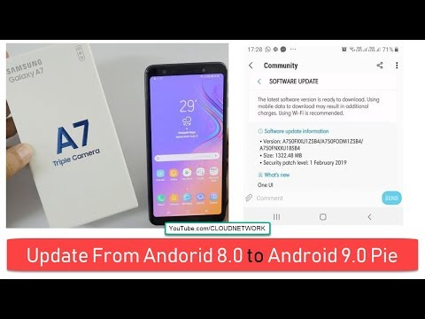 Samsung Galaxy A7 2018 Android 9 0 Pie vs Android 8 0 Oreo