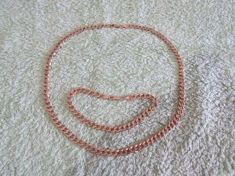 Золотая цепь и браслет панцирного плетения - Gold chain and bracelet
