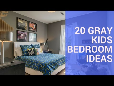 20 Gray Kids Bedroom Design Ideas