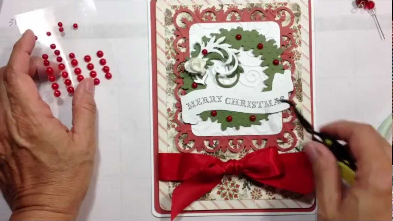 Cricut Card Making Ideas Part - 17: December 25th Christmas Card