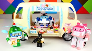 Ice Cream Truck Toy with Robocar Poli and Friends rainbow popsicle