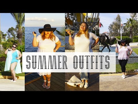 Одежда РАЗМЕРА ПЛЮС на МОРЕ || 4 ОБРАЗА || 4 SUMMER VACATION PLUS SIZE OUTFITS
