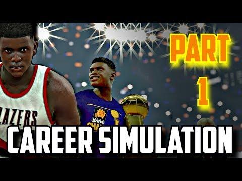 SIMULATING ZION WILLIAMSON'S NBA CAREER IN NBA2K17!!(2019-2036) PART 1!!!