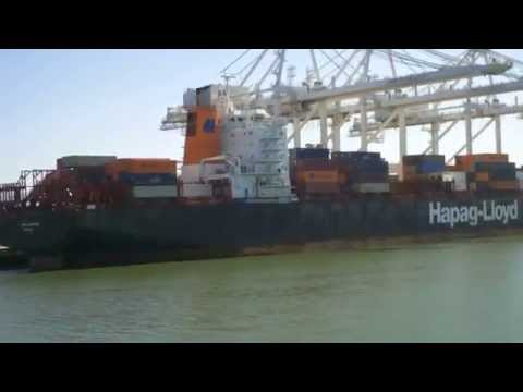 Bay Area Container Ship Spotting - Paris Express Dock at Port of Oakland  June 16, 2013