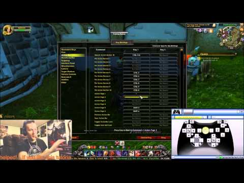 XboX 360 Controller set up for World of Warcraft!