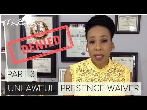 ⏳UNLAWFUL PRESENCE WAIVER (Part 3) 🇺🇸 I-601A; USA Immigration Lawyer (2019)