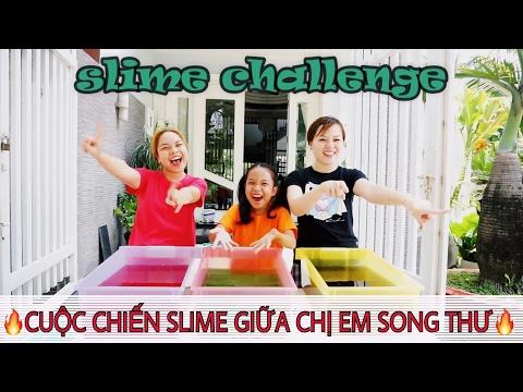 SLIME BAFF CHALLENGE- THÁCH TÌM NGỰA PONY TRONG SLIME VÀ CUỘC CHIẾN SLIME GIỮA CHỊ EM SONG THƯ
