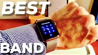 BEST APPLE WATCH BAND!! Milanese Loop Review (Black 42mm Apple Watch)