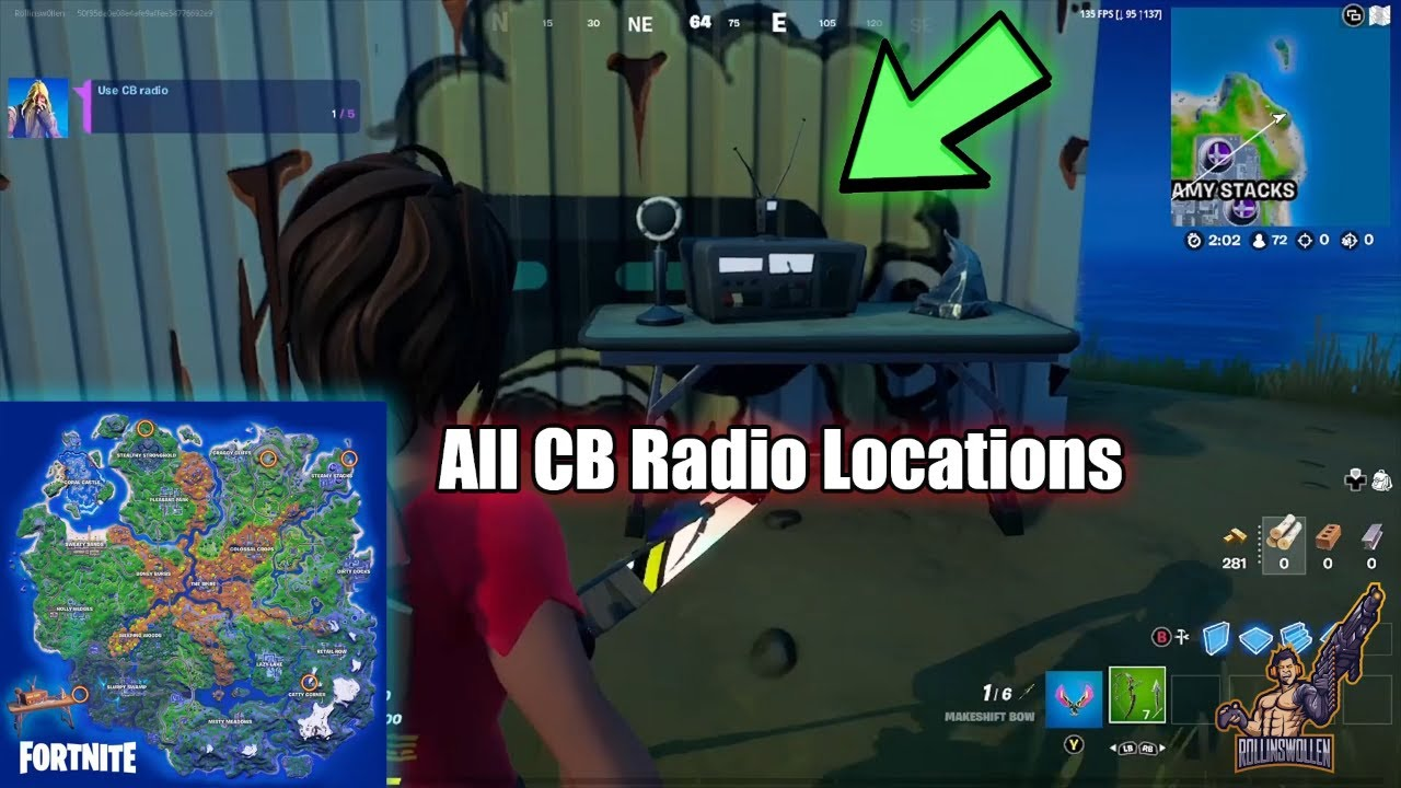 fortnite cb radio locations - 5 Total (Foreshadowing Quest)