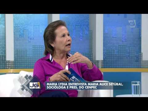 Maria Lydia entrevista Maria Alice Setúbal, socióloga e pres. do Cenpec