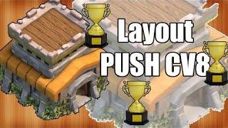 LAYOUT DE PUSH PARA CV8 PEDIDOS DE INSCRITOS #1 - CLASH OF CLANS