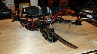250 Quadcopter Complete Build CC3D QAV Blackout Clone