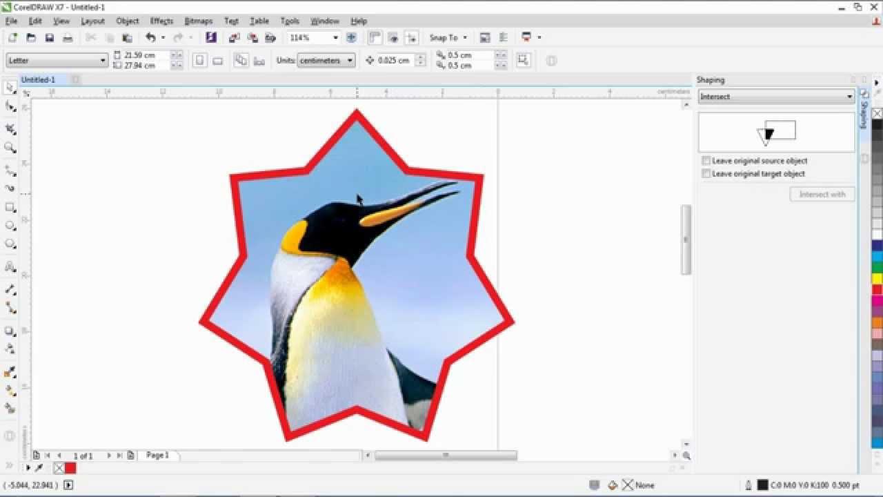 Belajar Corel Draw 1 Memotong Object Gambar Sesuai Keinginan Youtube