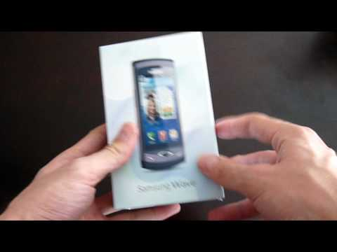Samsung Wave S8500 Unboxing (German, HD)