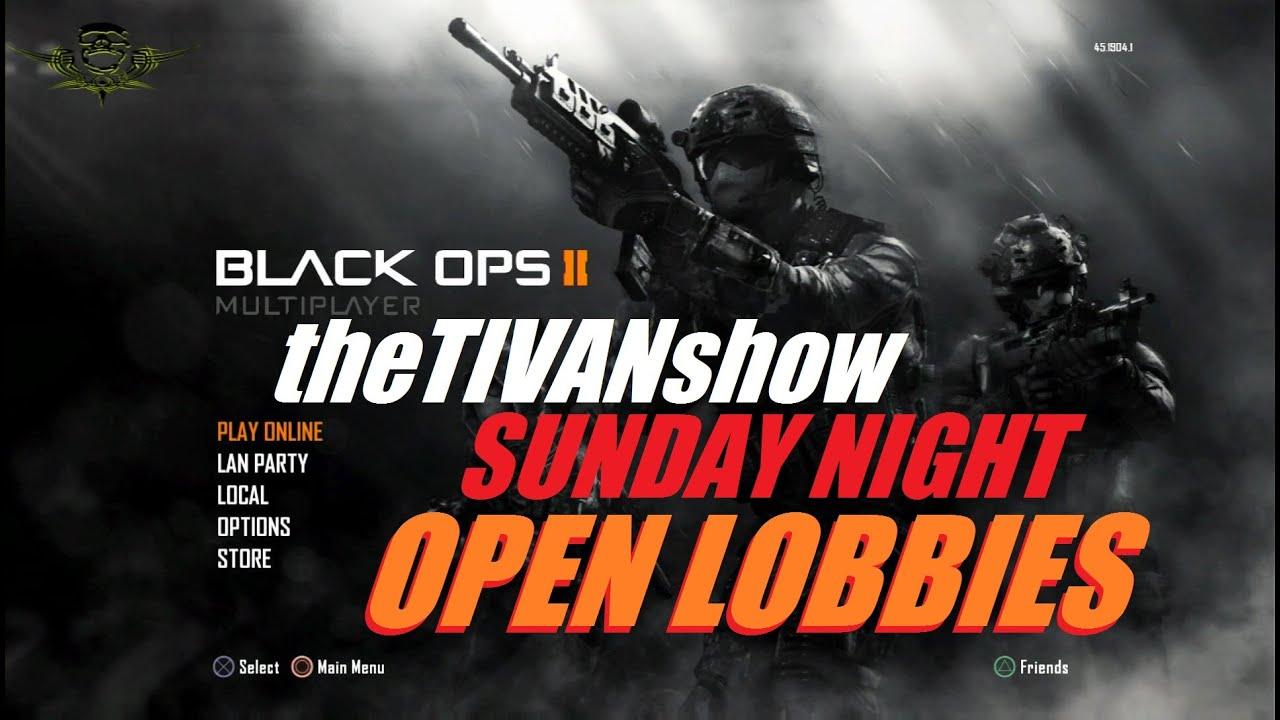 CALL OF DUTY - SUNDAY NIGHT OPEN LOBBIES - PS3