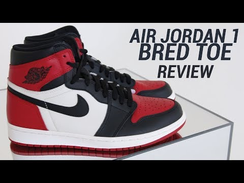 AIR JORDAN 1 BRED TOE REVIEW