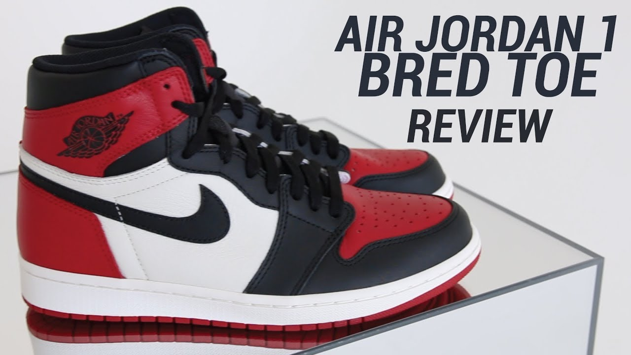 AIR JORDAN 1 BRED TOE REVIEW