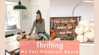 Thrifting My Pinterest | Fall Home Decor and Clothing Try On Haul
