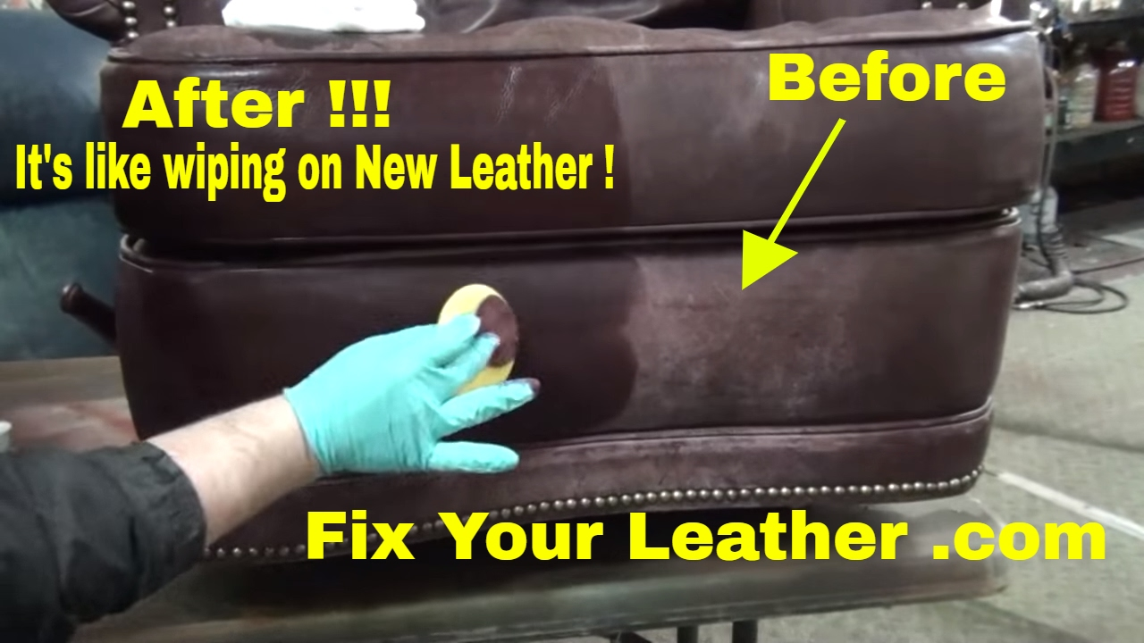 How To Recover A Sofa Chair Modular Leather Canada Fix Worn And Faded The Easy Way. - Youtube