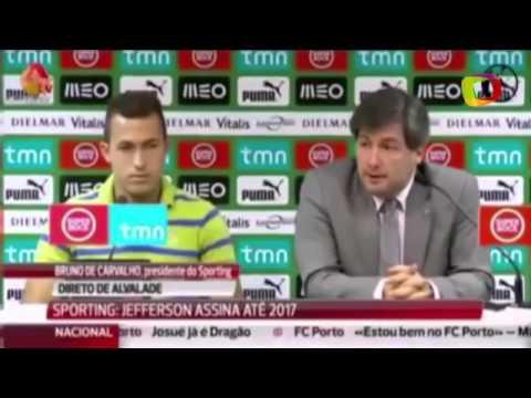 """Brasileiro """"peida"""" ao vivo durante apresentação ao Sporting"""