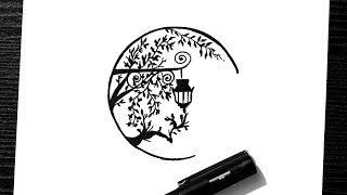 pen easy scenery drawing doodle draw