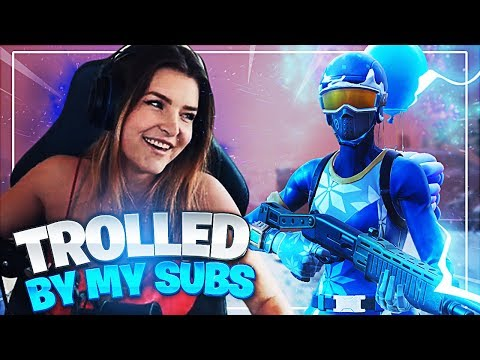 I GOT TROLLED BY MY SUBS! (Fortnite: Battle Royale Gameplay)   KittyPlays