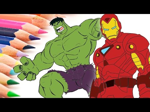 Hulk  Iron Man Coloring Pages  How to Color Hulk  Iron Man