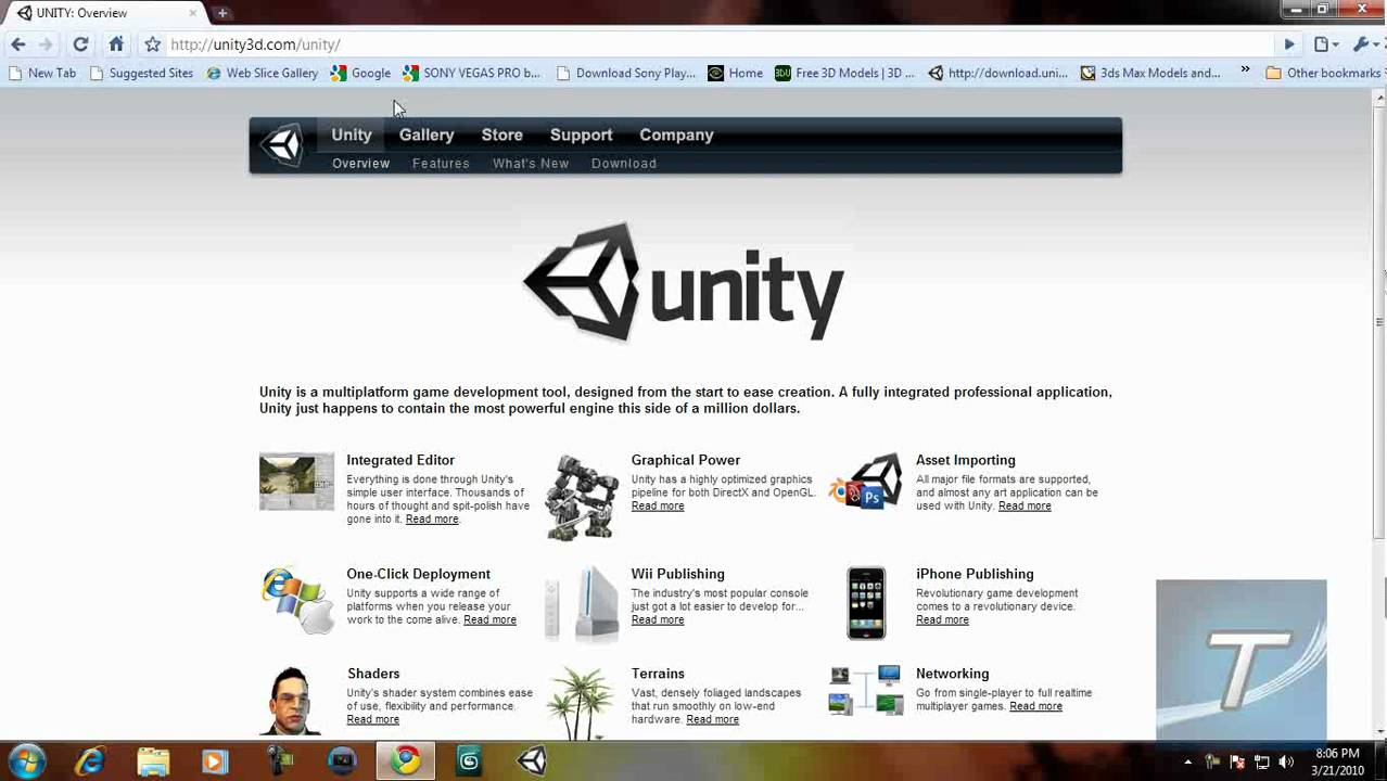 Unity 3D - Create Pro  3D Games For Free!