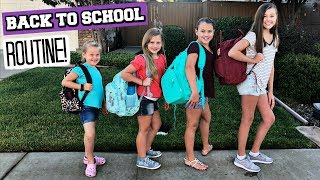 First Day Of School Routine! Back To School