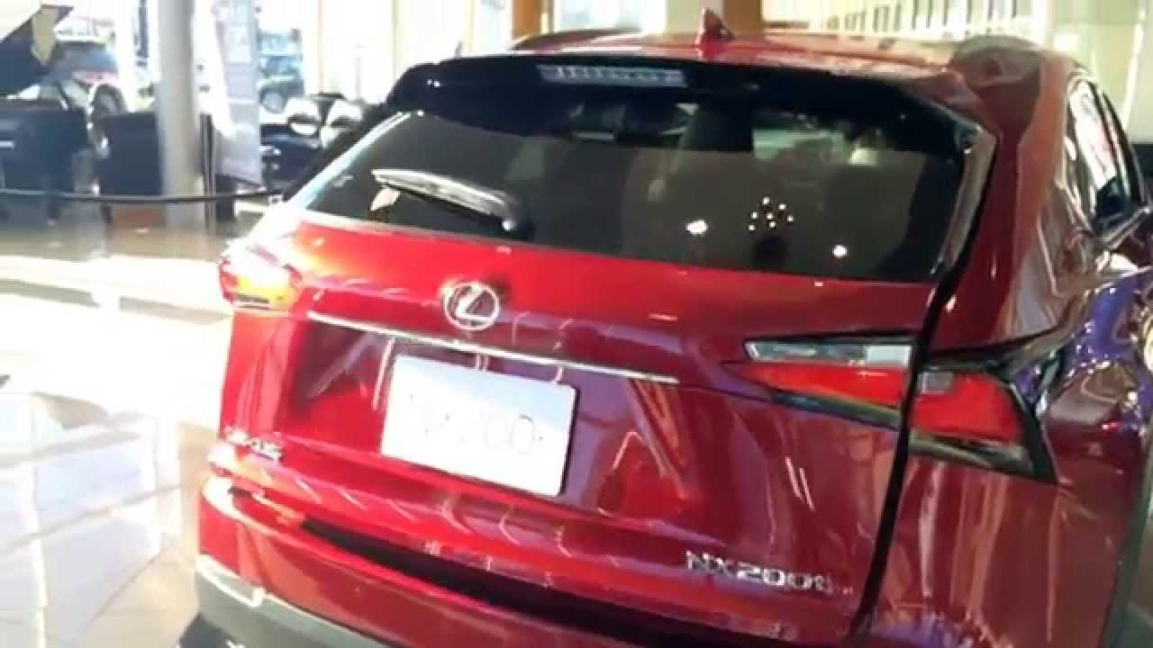 2015 Lexus NX 200t Exterior Driver Side and Trunk Walk Around Review - YouTube