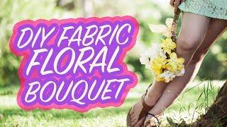 DIY Floral Bridal Bouquet | Tutorial for Handmade Flower Stems | Damsels in DIY